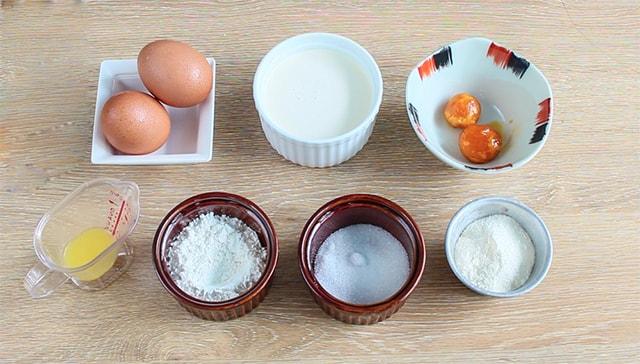 Nguyên liệu làm bánh trung thu trứng muối chảy