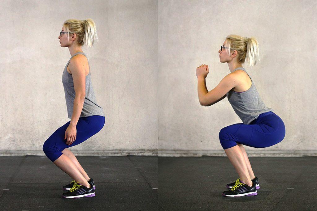 Động tác squat giảm mỡ bụng cơ bản