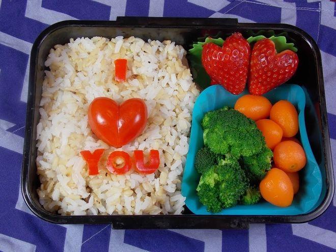 Cơm hộp Bento I love you xinh xắn, dễ thương