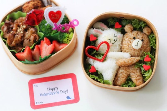 Hộp cơm Bento I love you cực kỳ xinh cho Valentine