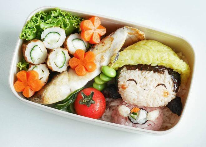 Cơm hộp Bento cho bé màu siêu cute
