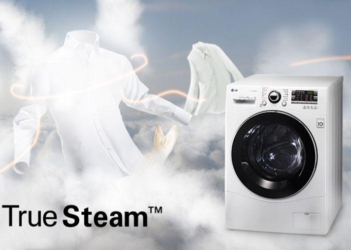Máy giặt lồng đôi LG Twinwash ứng dụng công nghệ Truesteam giúp giặt sạch hơn