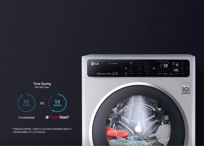 Máy giặt LG Twinwash tiết kiệm tối đa thời gian và lượng điện tiêu thụ