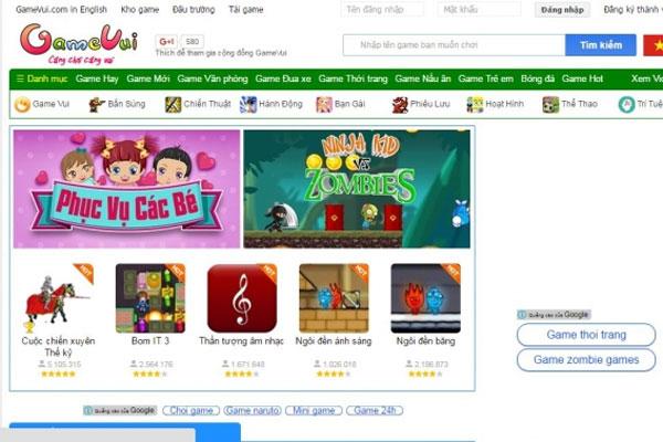 Website Game Vui