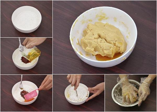 Cách làm vỏ để nướng bánh trung thu bằng nồi chiên không dầu