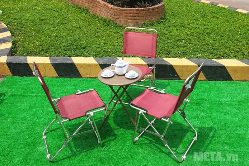 Ghế xếp inox có lưng tựa Thanh Long GXI-L01