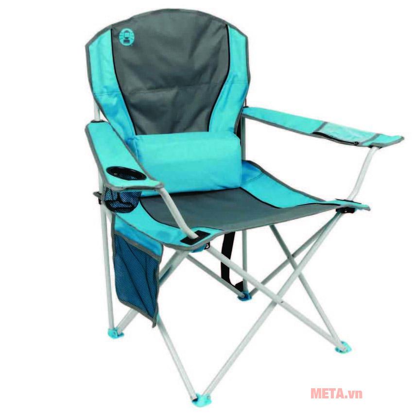 Ghế xếp tay tựa có đệm lưng Coleman 2000019207 (Xanh dương)
