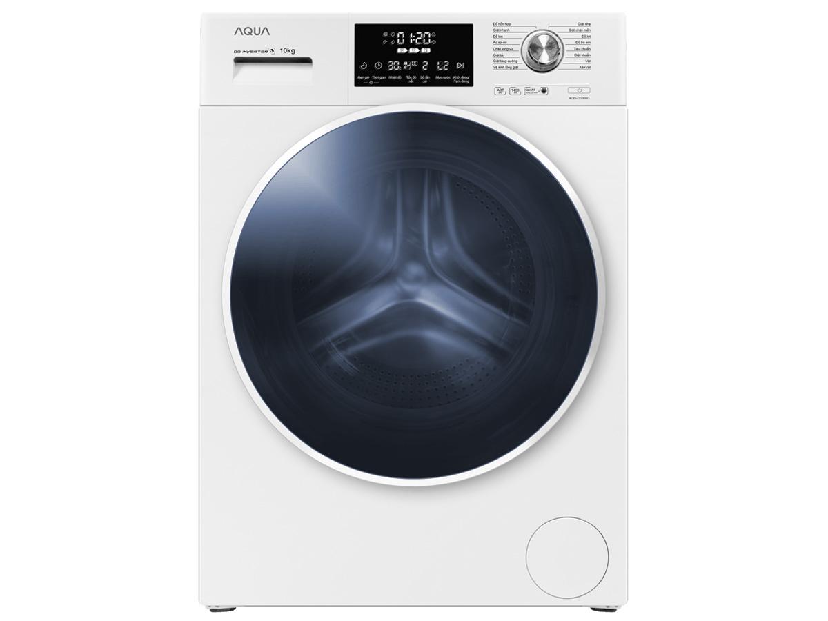 Máy giặt lồng ngang Aqua Inverter 10 kg AQD-D1000C (W)