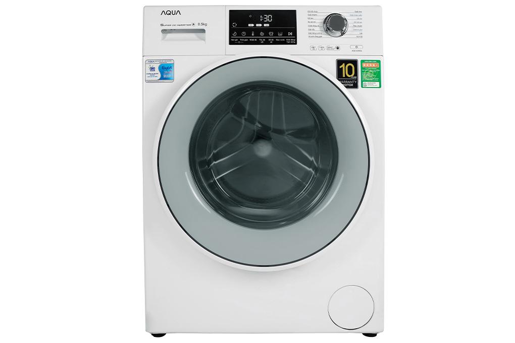 Máy giặt lồng ngang Aqua Inverter 8.5 kg AQD-D850E.W