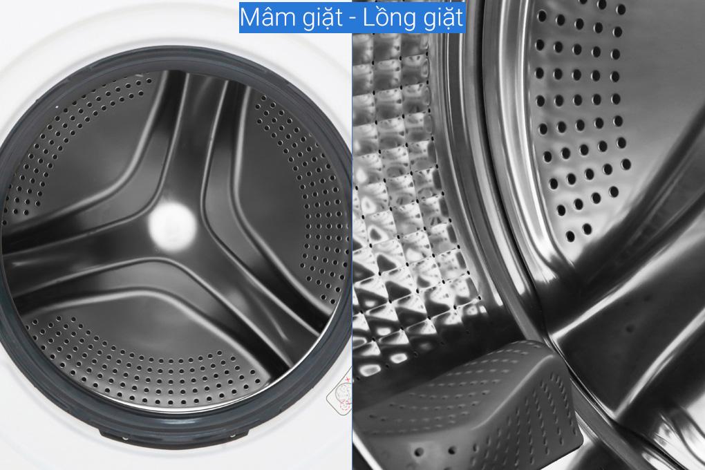 Máy giặt lồng ngang Aqua Inverter 8,5kg AQD-D850E.W có mâm giặt rộng