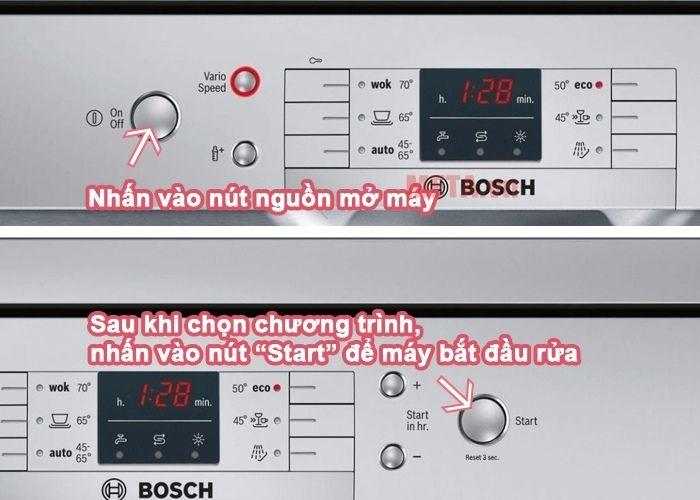 hướng dẫn sử dụng máy rửa bát Bosch SMS63L08EA