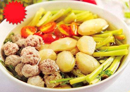 Canh hạt sầu riêng