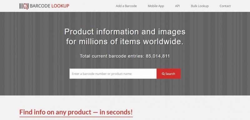 Công cụ check mã vạch Barcode lookup
