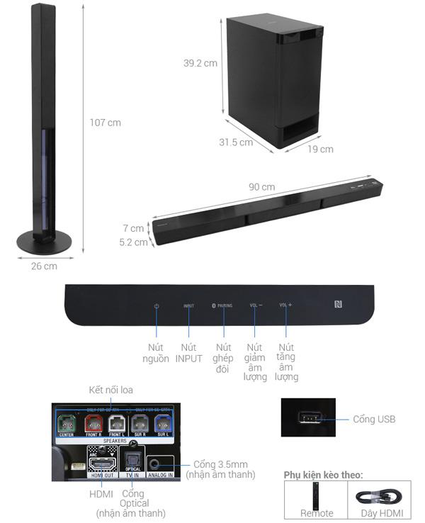 Dàn âm thanh Sony HT-RT40