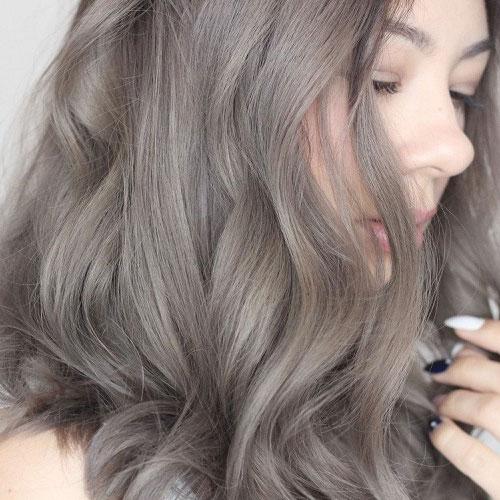 Màu tóc nâu khói