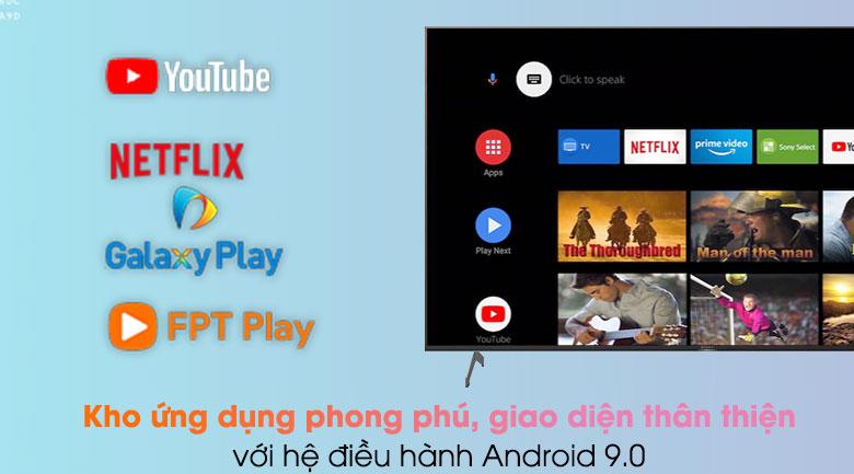 Tivi Sony có kho ứng dụng phong phú của Google nhờ chạy hệ điều hành Android