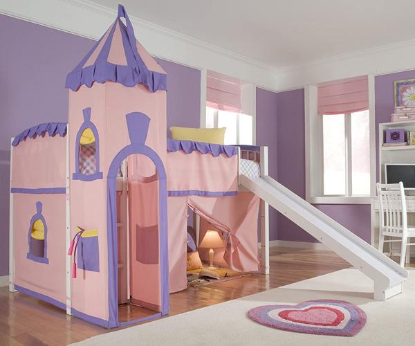 Thiết kế giường theo hình lâu đài được rất nhiều bé gái yêu thích