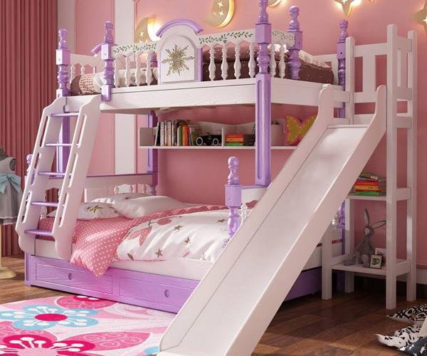 Một số bé gái yêu thích giường gam màu khác