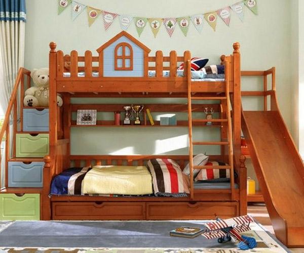 Mẫu giường tầng có cầu trượt là sự lựa chọn đúng đắn