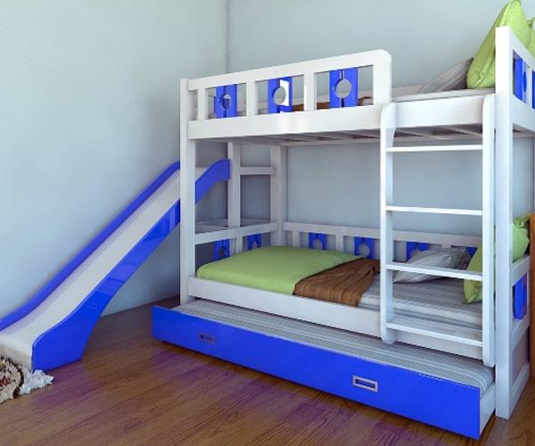 Mời bạn tham khảo một số mẫu giường tầng có cầu trượt