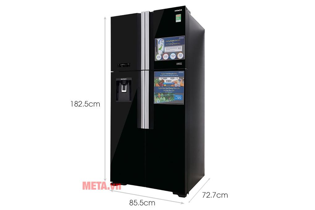 Kích thước tủ lạnh Hitachi R-FW690PGV7 GBK/GBW 540 lít