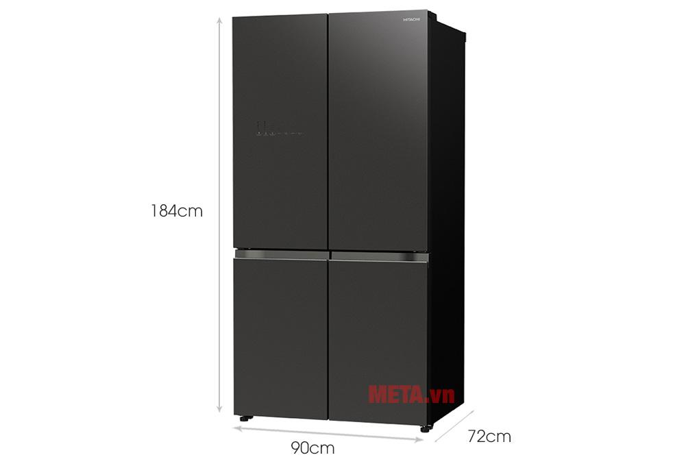 Kích thước tủ lạnh Hitachi Inverter 638 lít R-WB640VGV0 mẫu 2020