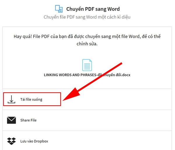 Chuyển PDF sang Word bằng Smallpdf