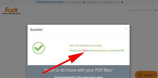 Chuyển PDF sang Word bằng Foxit