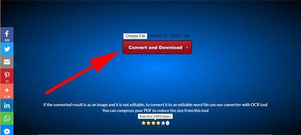 Chuyển PDF sang Word bằng PDF to Word COnverter