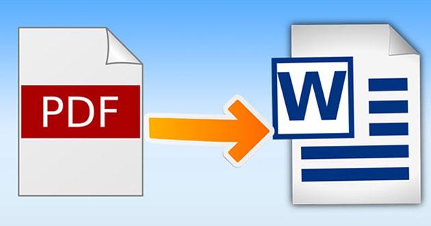 Cách chuyển PDF sang Word