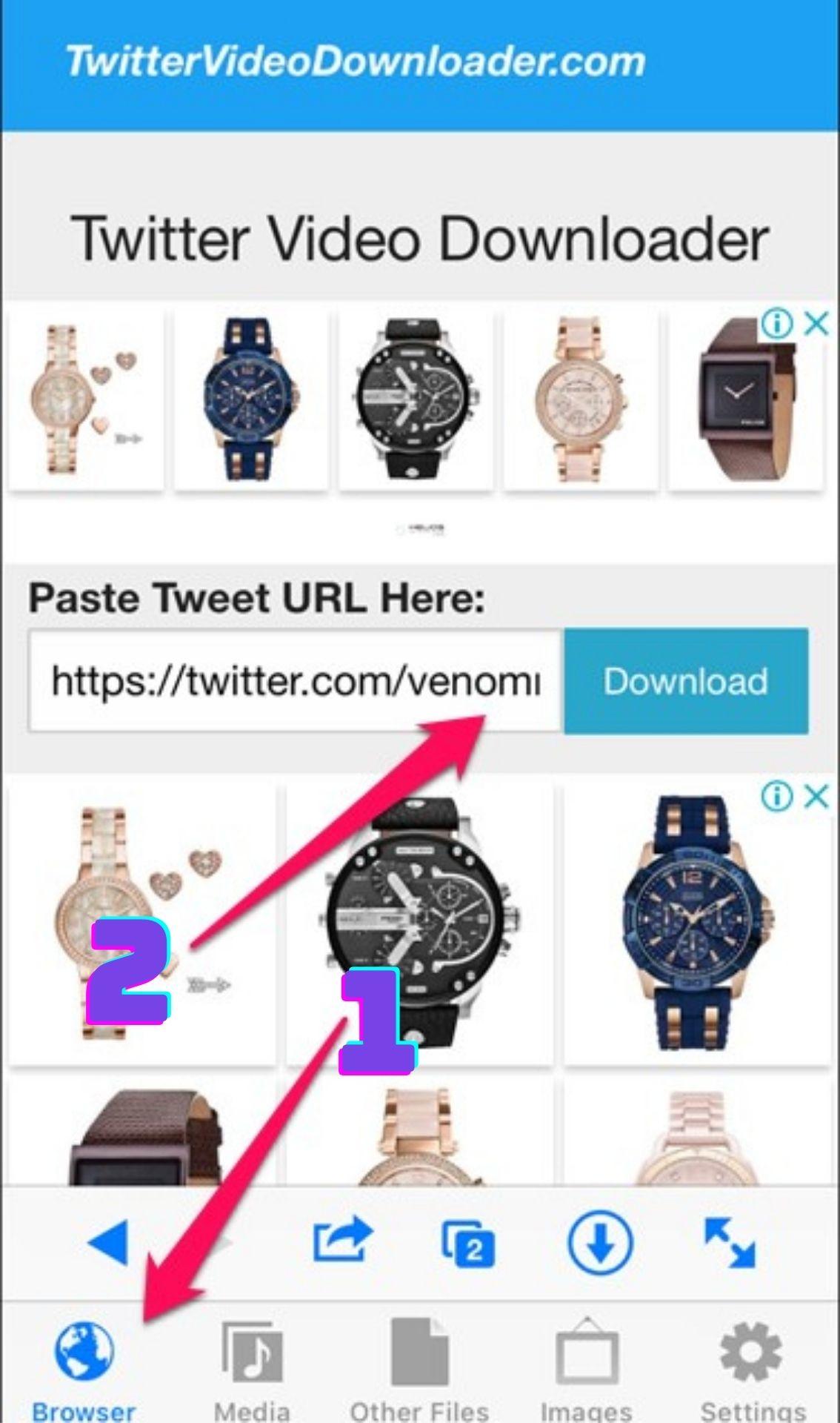 Cách lưu video trên Twitter về iPhone