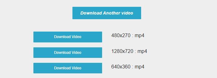 Lựa chọn định dạng download video Twitter