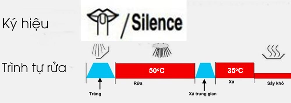 Chương trình rửa yên tĩnh 50 độ C (Silence 50 độ C)