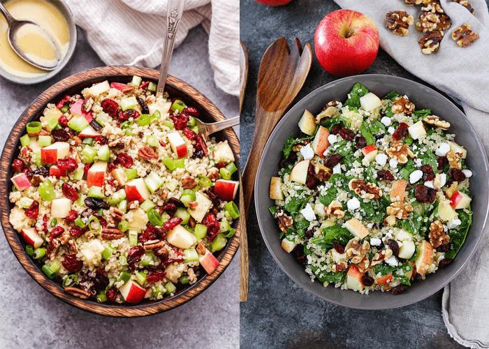Công thức salad giảm cân với rau củ và nam việt quất