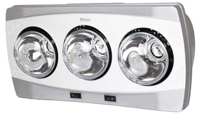 Đèn sưởi nhà tắm - Đèn sưởi hồng ngoại Hans 3 bóng