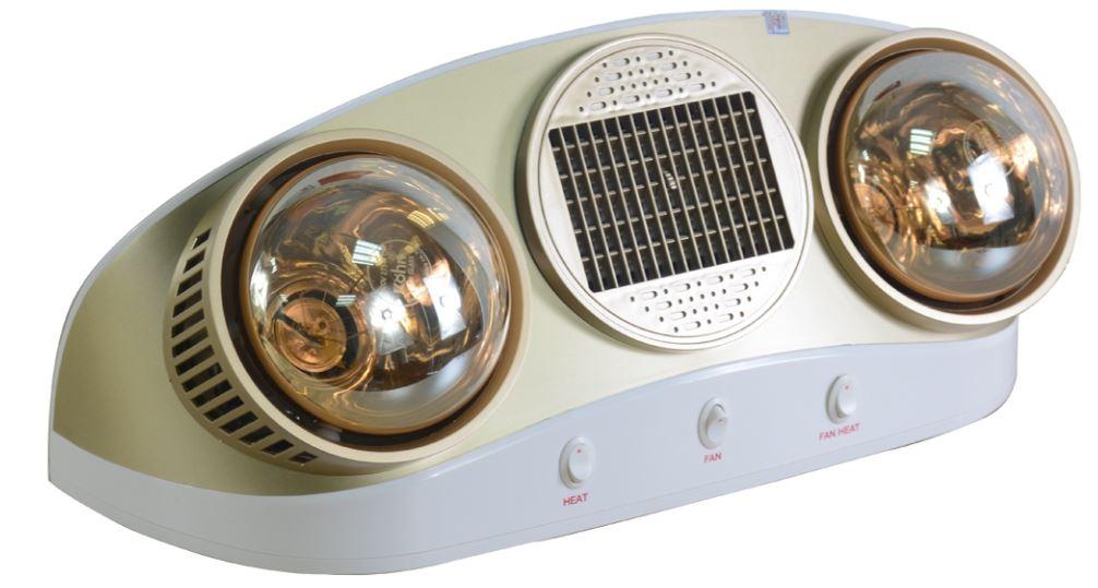 Đèn sưởi nhà tắm 2 bóng Kohn Braun KU02PG