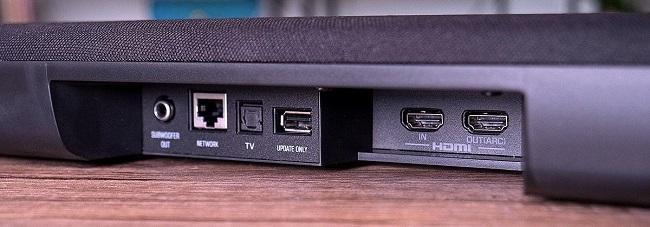 Loa thanh soundbar được trang bị nhiều cổng kết nối