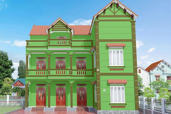 Màu sơn nhà đẹp cho người mệnh Mộc