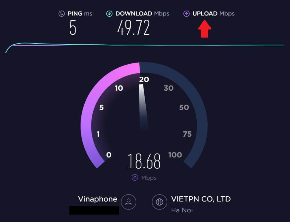 Cách kiểm tra tốc độ mạng online bằng Speedtest