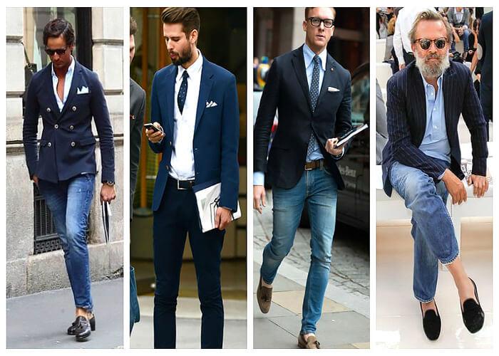 Blazer kết hợp với quần jeans