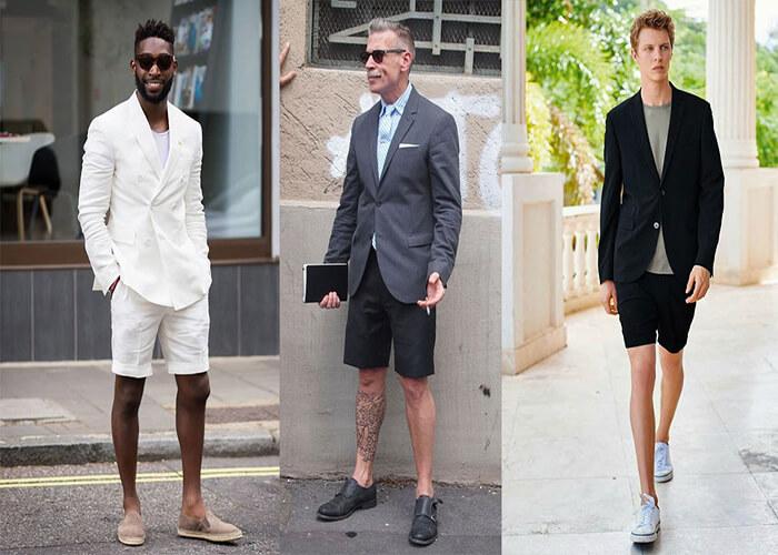 Blazer kết hợp với quần ngắn (shorts)