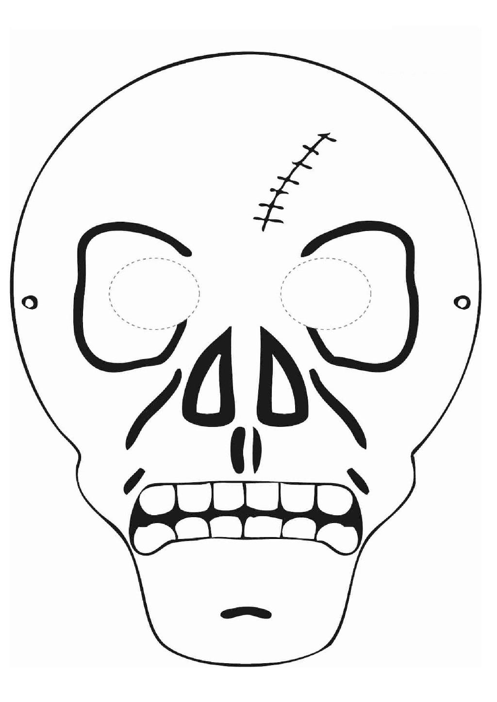 Mẫu mặt nạ Halloween bằng giấy