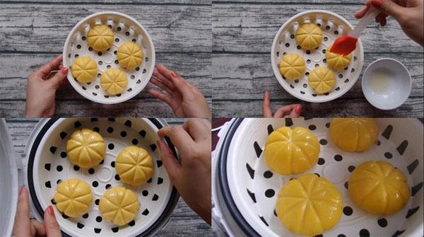 Cách làm bánh bí đỏ hấp