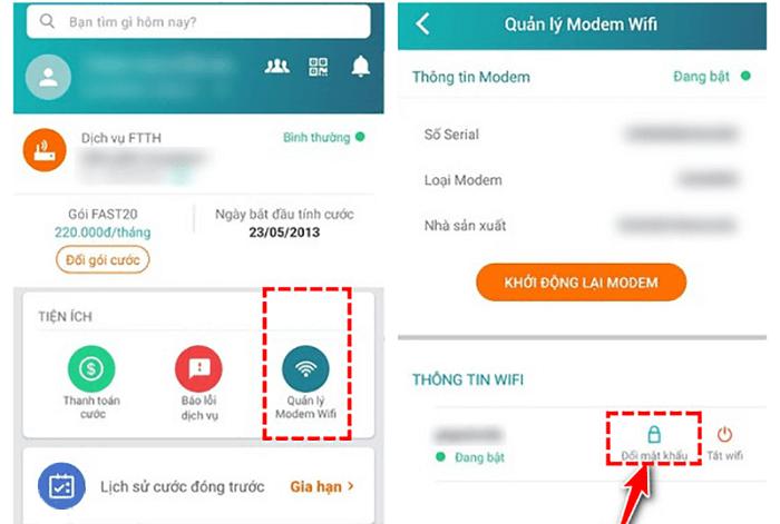 Cách đổi mật khẩu wifi Viettel trên bằng ứng dụng My Viettel trên điện thoại