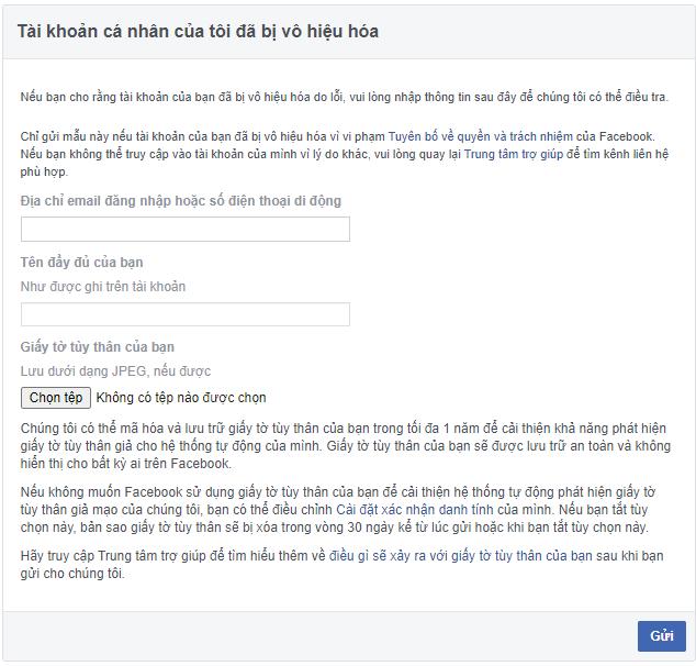 5+ cách lấy lại tài khoản Facebook bị vô hiệu hóa nhanh chóng, thành tích
