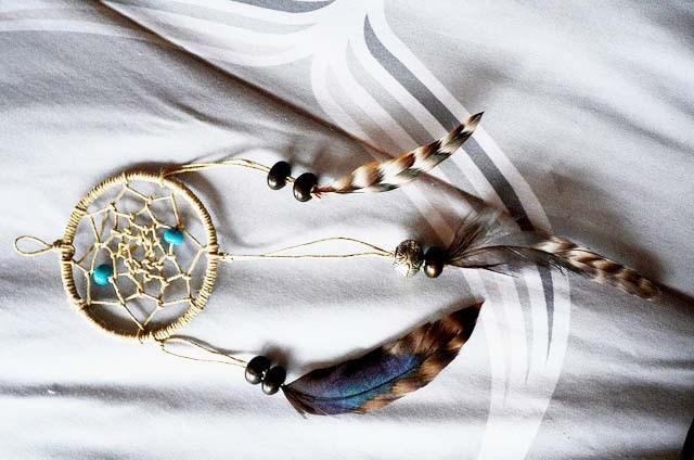 Hoàn thành chiếc vòng bắt giấc mơ handmade