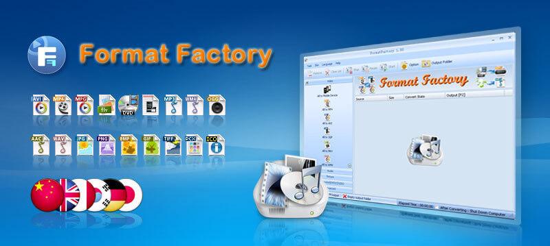 Phần mềm đổi đuôi video Format Factory