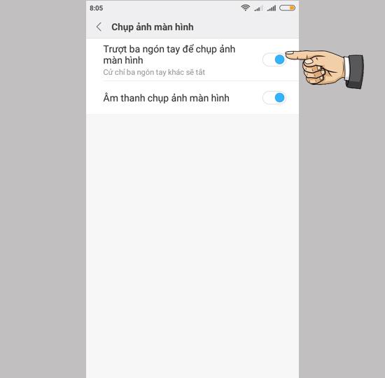 Chụp màn hình điện thoại Android Xiaomi