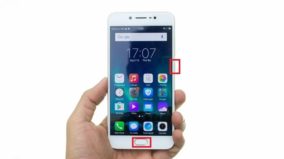 Chụp ảnh màn hình điện thoại Android Vivo