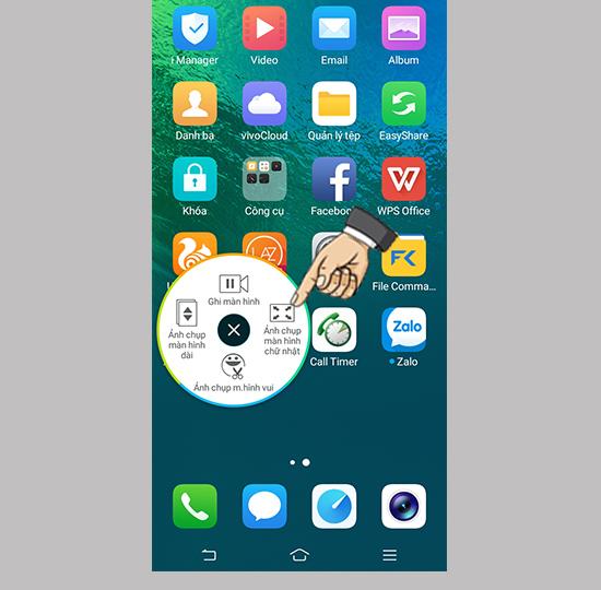 Chụp màn hình điện thoại Vivo